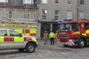 Firefighters at the scene this morning
