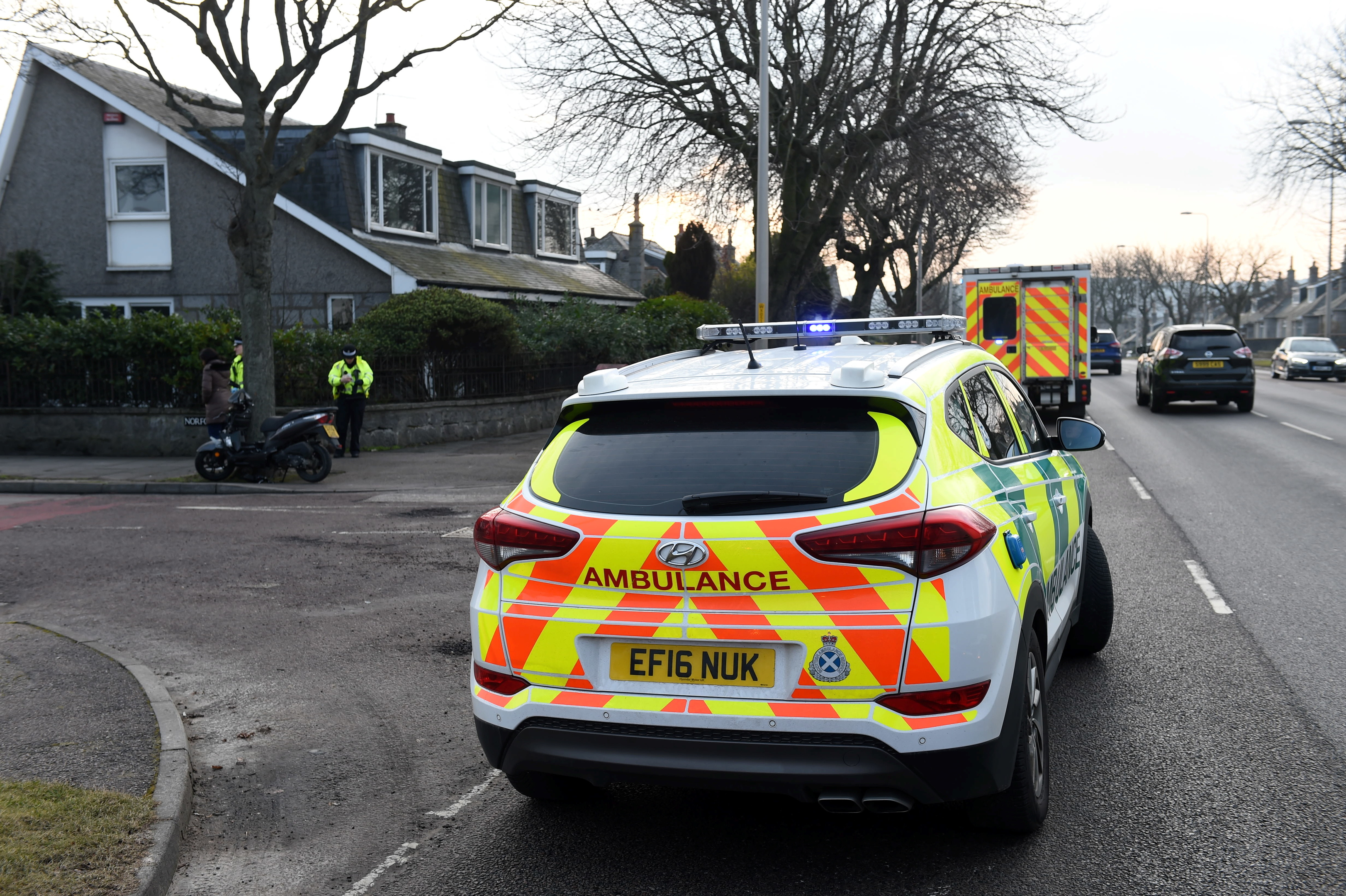 The incident happened at around 7.30am this morning on South Anderson Drive at the junction with Newlands Crescent.
