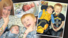 Jaxon Stars, who passed away aged 13 months, with mum Lisa and brother Antony.