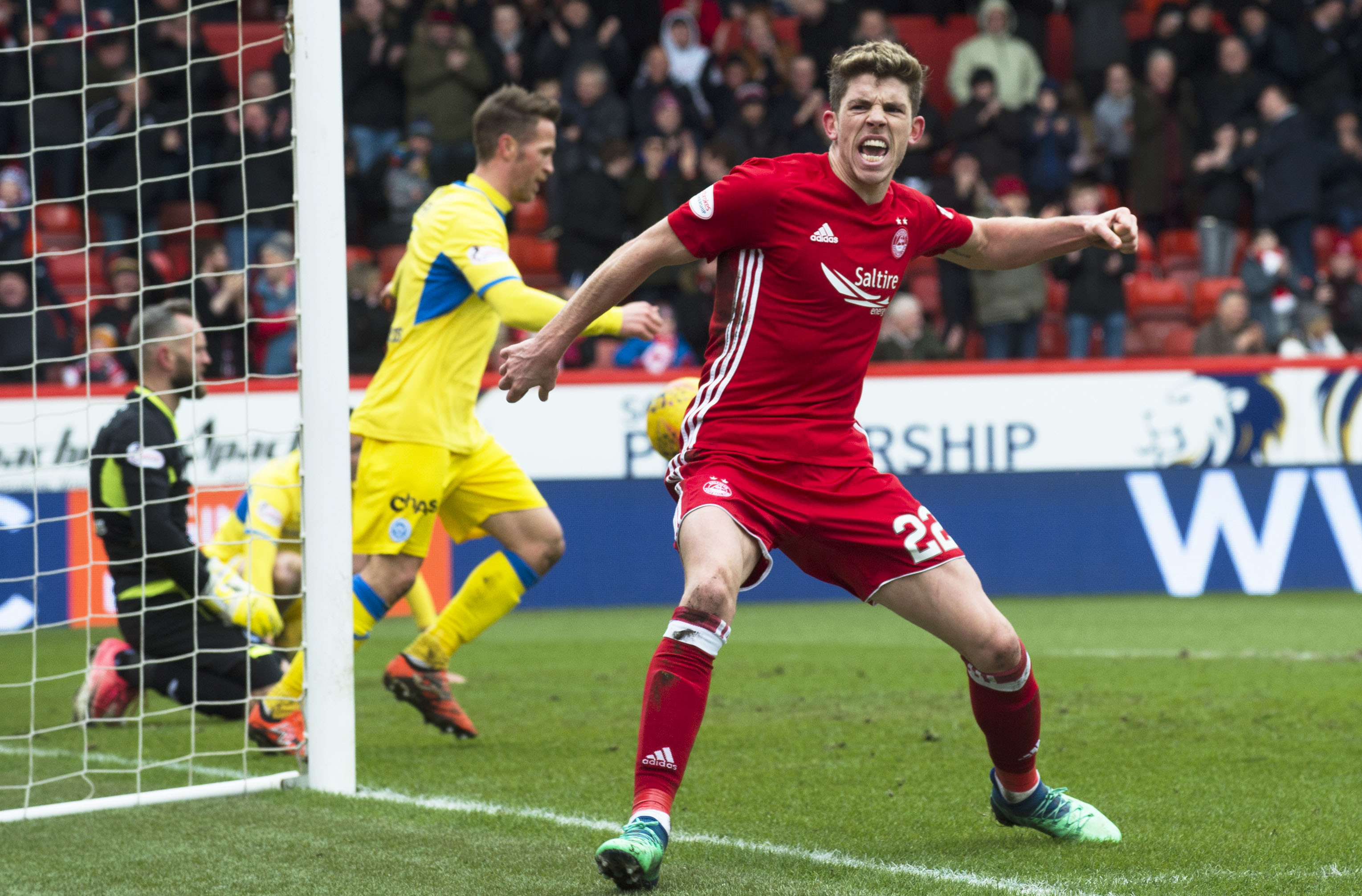 Aberdeen's Ryan Christie celebrates his opening goal to make it 1-0.