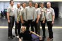 Ed Dow, Michael Barrie, Stuart Mearns, Director Kenneth Lypka, Liam Christie, Jack Elvey, Angus MacIntosh and choreographer Steph Ross