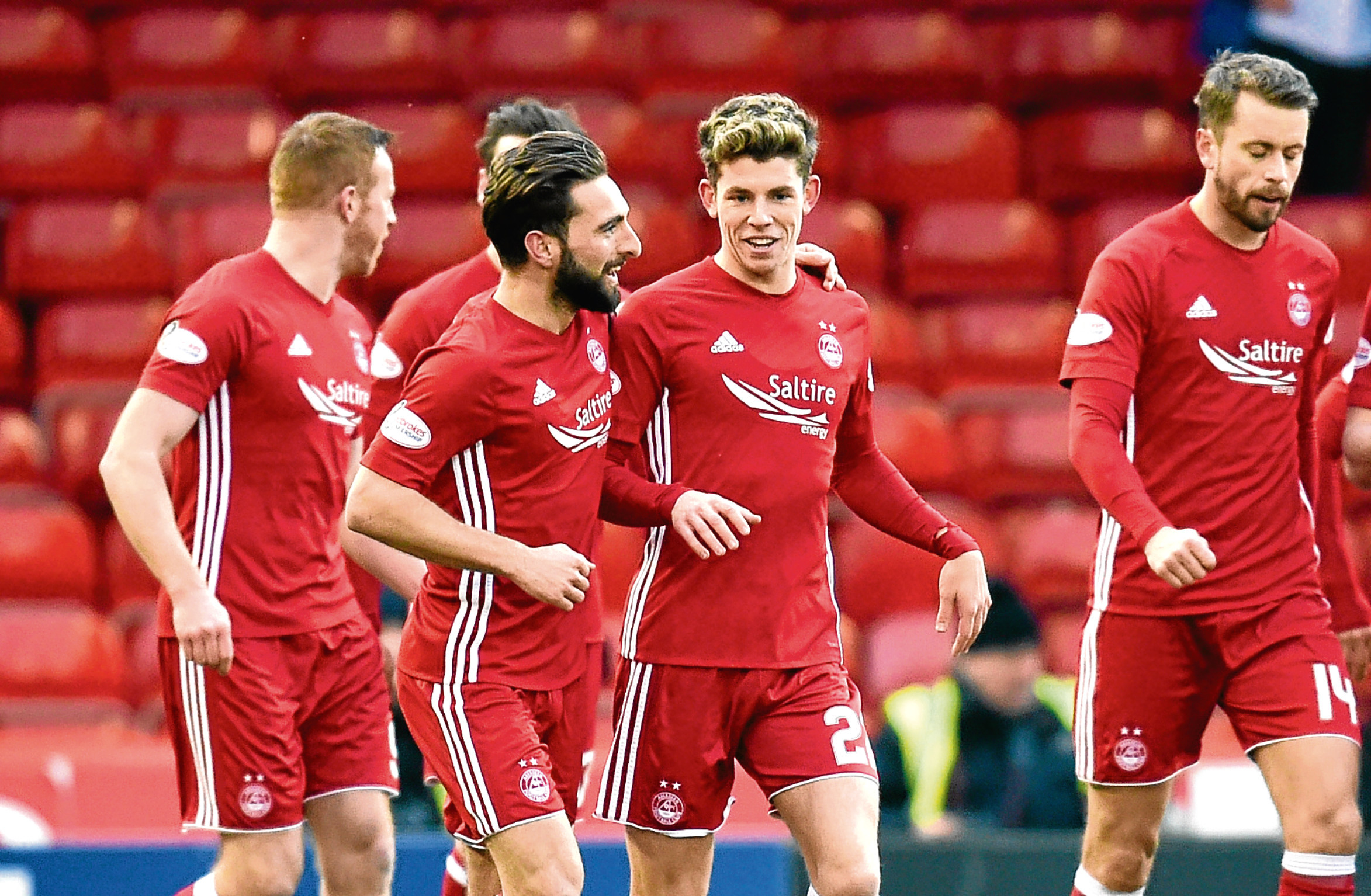 Graeme Shinnie opened the scoring against Kilmarnock in their quarter-final tie on Saturday.