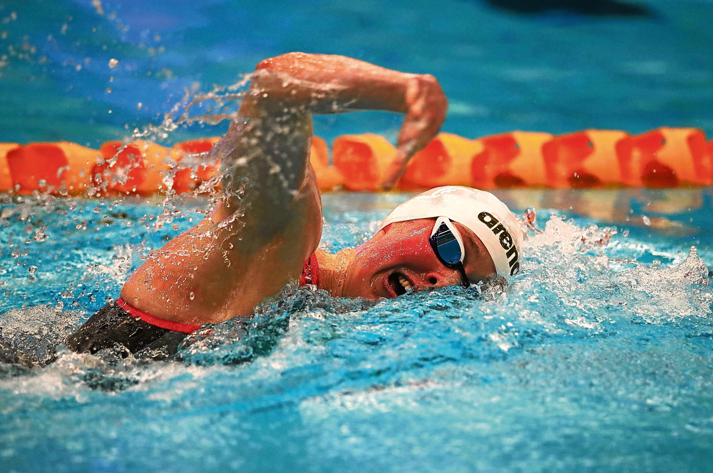 Hannah Miley of Aberdeen competes in the Women's 400m IM Final during the Edinburgh International Swim meet incorporating the British Championships at The Royal Commonwealth Pool.