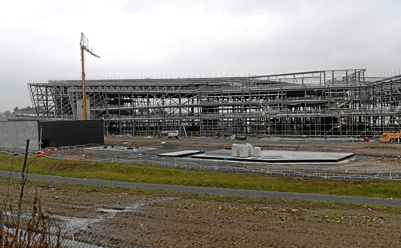 AECC in construction near Dyce.