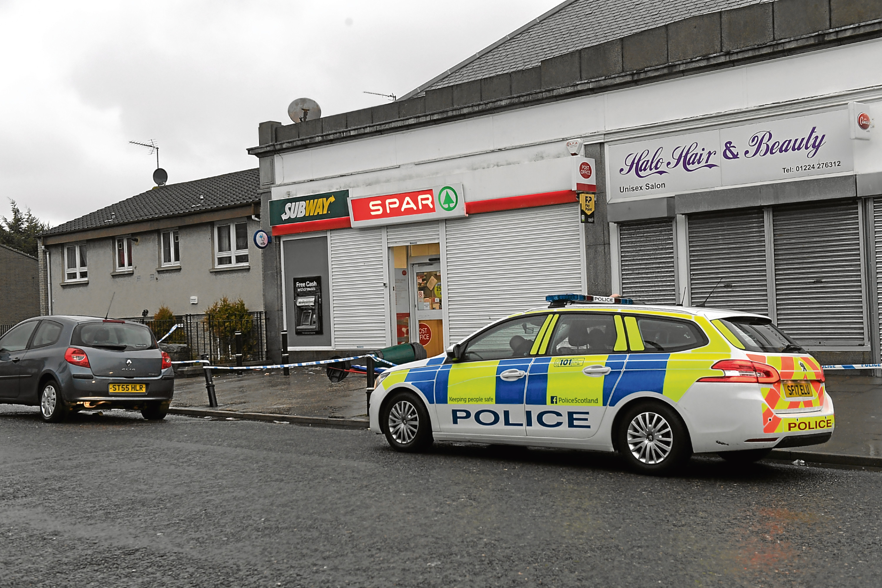 The scene at Spar on Clifton Road