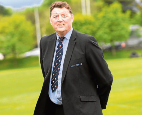 Aberdeen Grammar rugby team's Chairman Gordon Thomson. Picture by Kath Flannery.