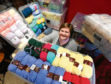 Reverend Stella Campbell with some of the wool.