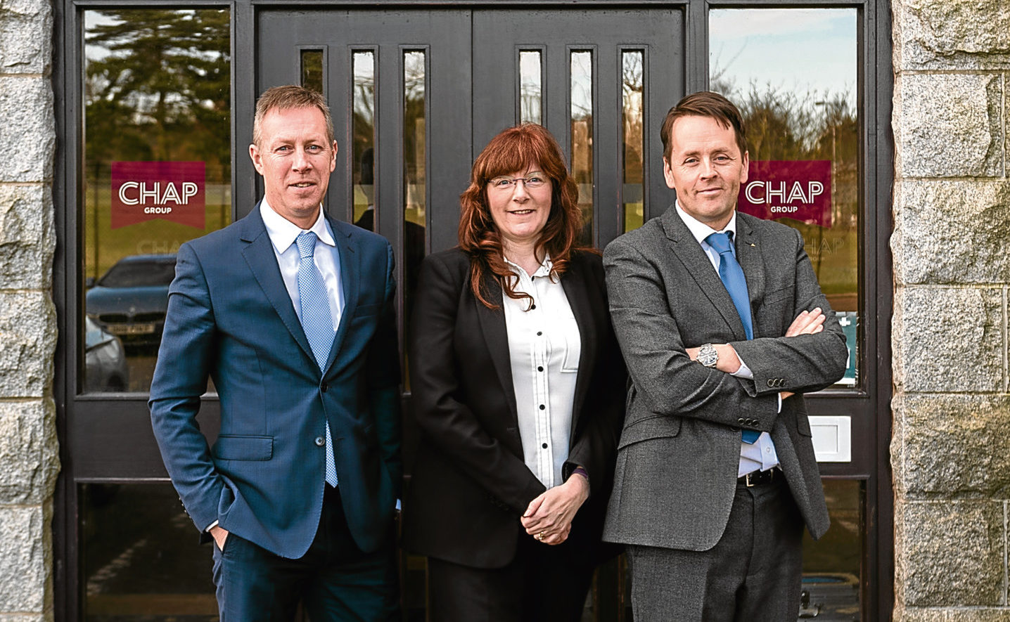 Hugh Craigie, right, managing director of Chap Group says his firm is gearing up for staff to safely return to work