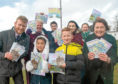 Front, from left, Cllr Ross Grant, Lana Cham, 8, and Jack Chalmers, 7, from Glashieburn School, with Nicola Atkinson from NADFLY. Back, from left, Helen Young from Friends of Westfield Park, Nathan Woods and Shannon-Lee Duncan, both 14, from Bridge of Don Academy and Anneke Duncan, Friends of Westfield Park.