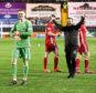 Aberdeen's Freddie Woodman celebrates at full time
