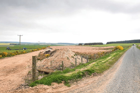 The site at Muirtack, near Ellon, earmarked for quarry.