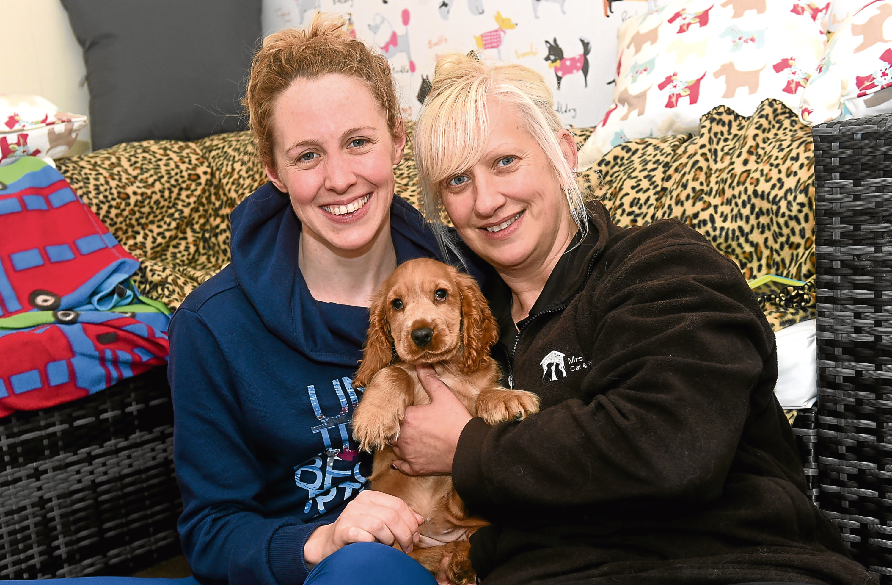 Hannah Miley visits Mrs Murray's Cat and Dog Home to see abandoned pup Miley.