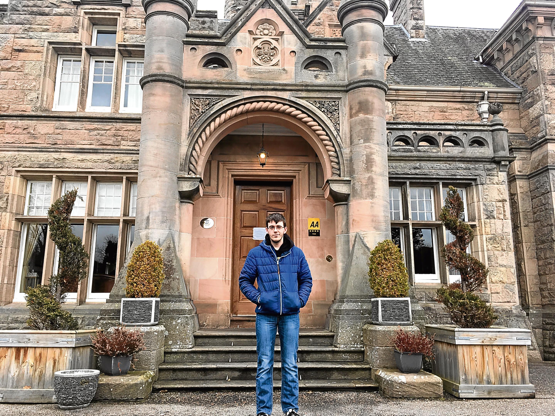 Fraser Gibb, chef at Mansion House, near Elgin.