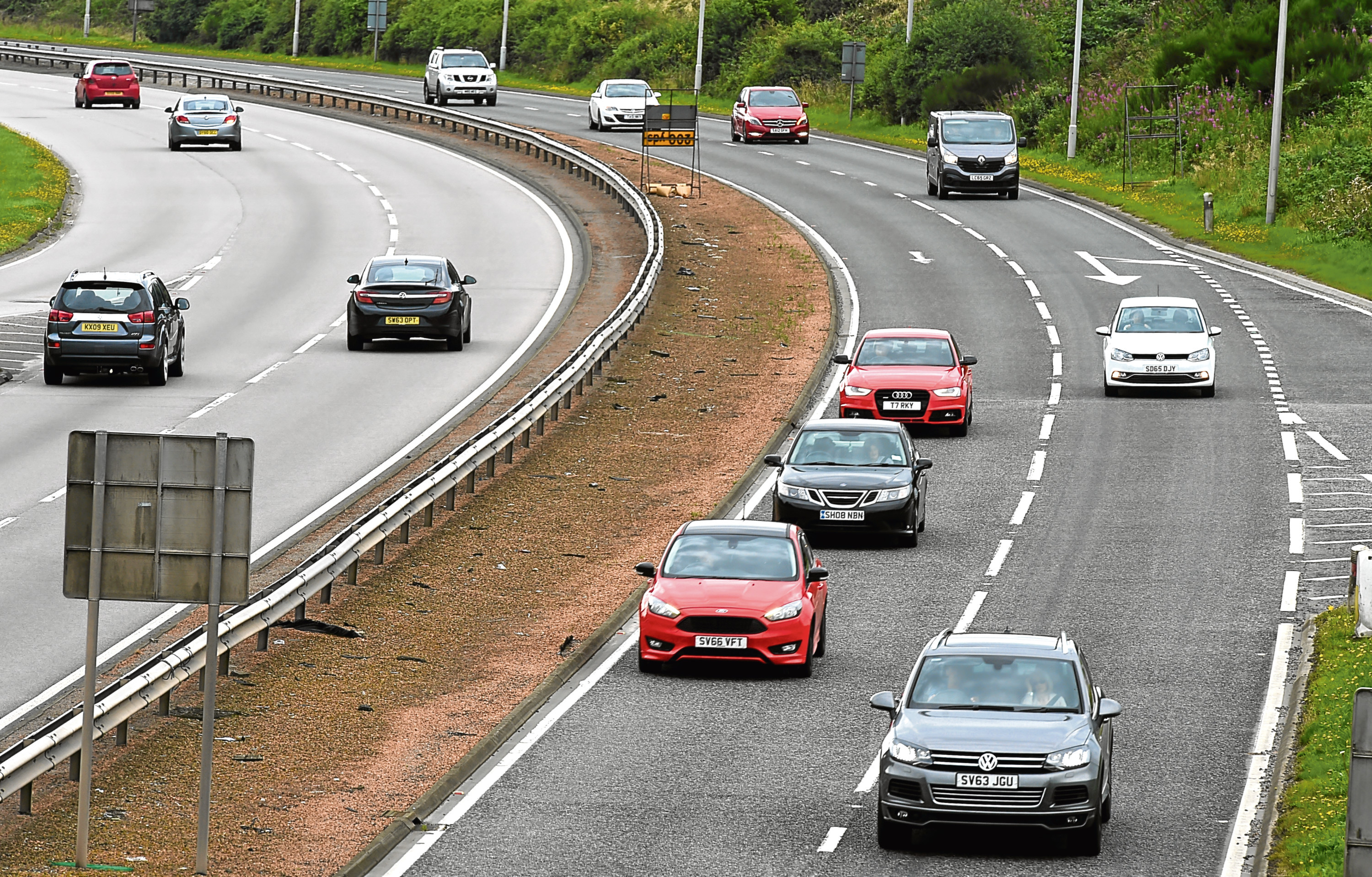 The A90 near Stonehaven