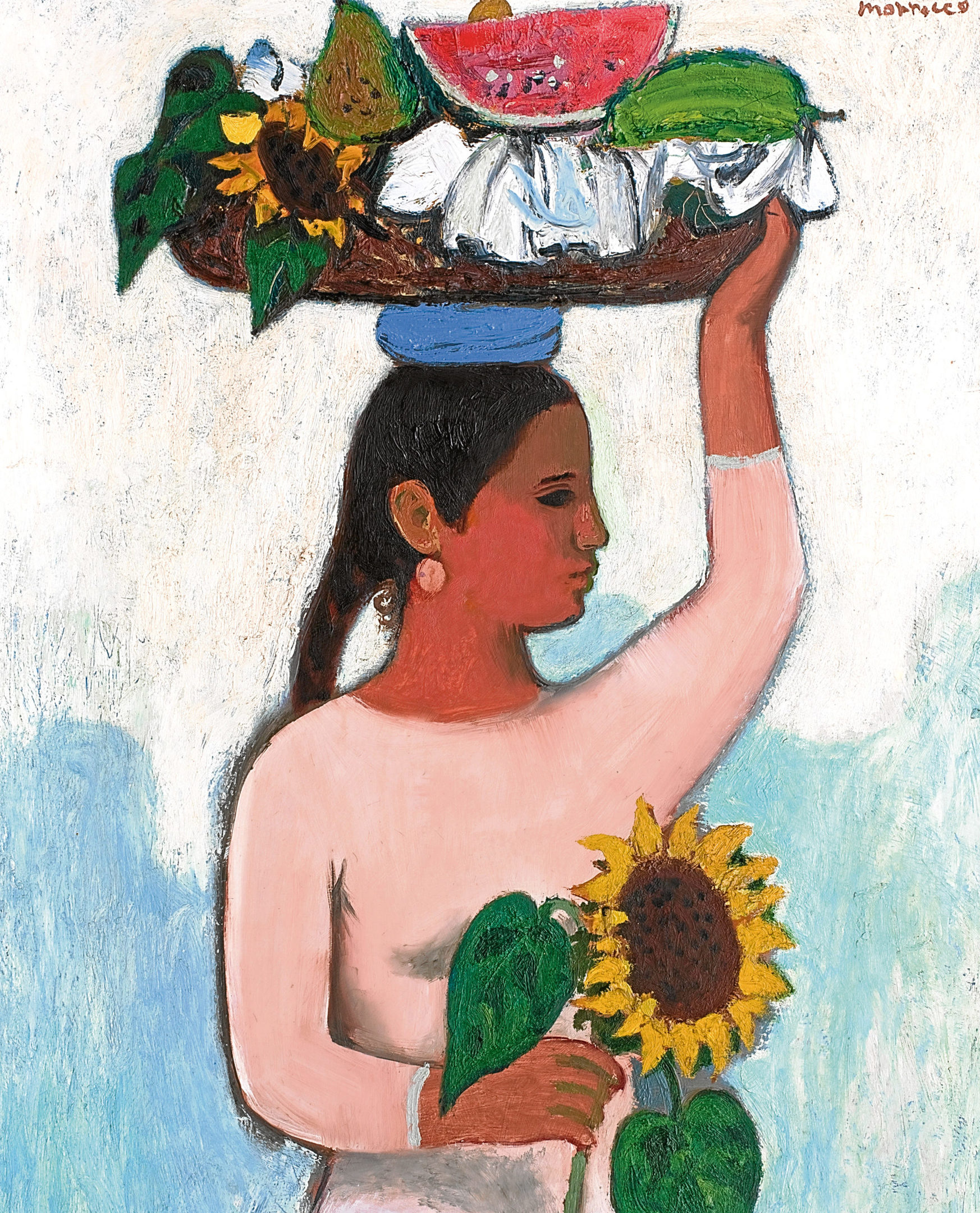 Alberto Morrocco's Girl with a Sunflower