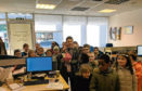 The Hanover Street School pupils with MP Kirsty Blackman at her office in Aberdeen.
