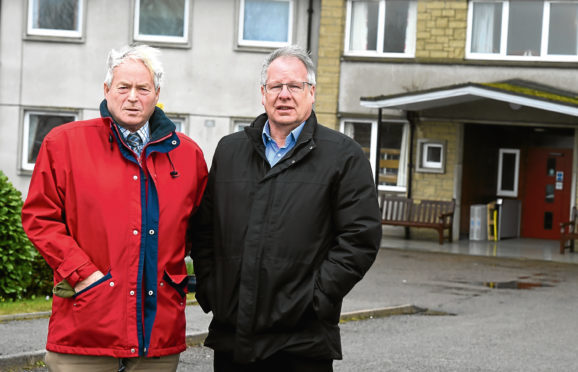 Councillors, Mike Roy, left and John Cox at Durnblythe Care home, Portsoy.
