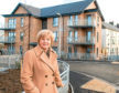 Councillor Jenny Laing  at Manor Walk, one of the new council homes units.