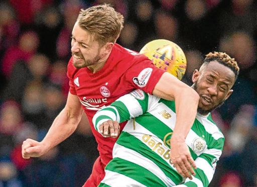 Aberdeen's Kari Arnason in action.