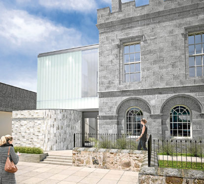An artist's impression of the plans for Strichen Town Hall