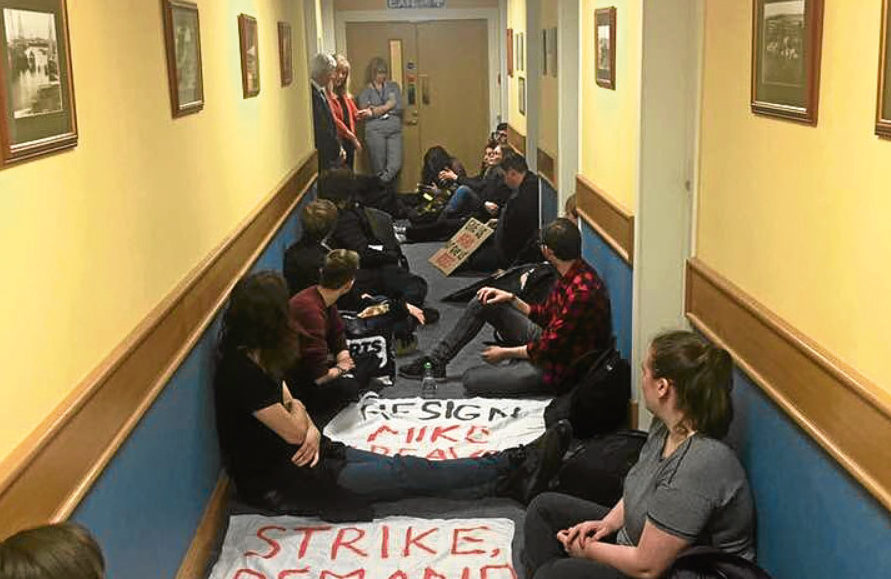 The university corridor occupation has ended.