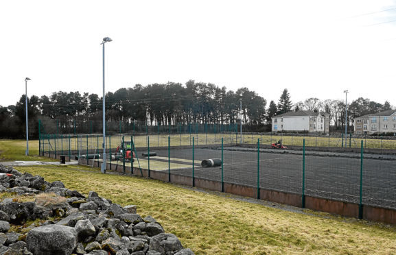 The community pitches in Elrick.