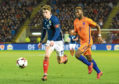 Ryan Christie in action for Scotland
