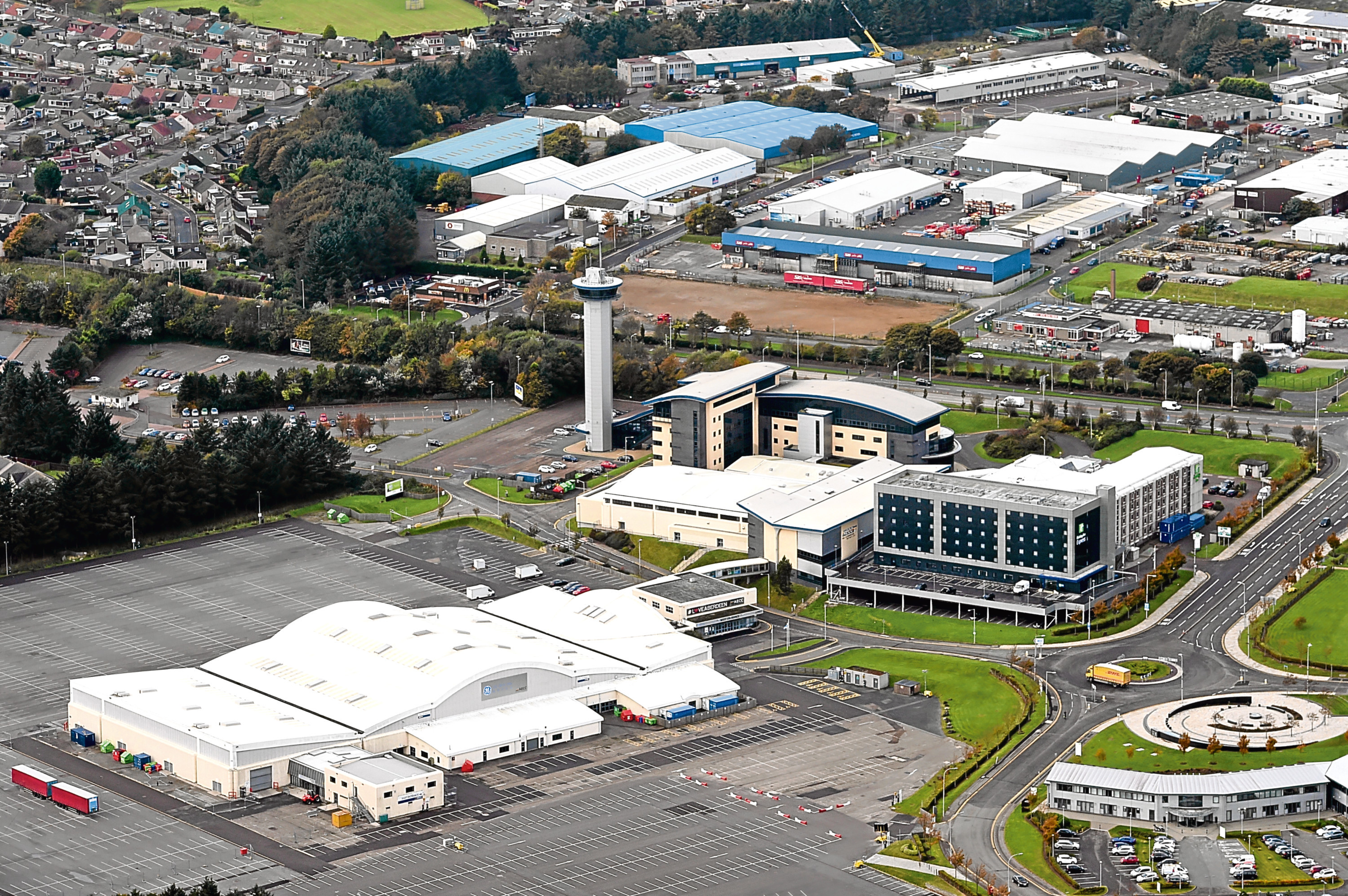Aberdeen Exhibition and Conference Centre.
