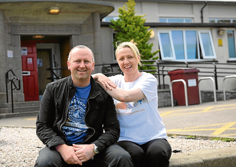 Paul O'Connor with previous award winner Maree Adams.