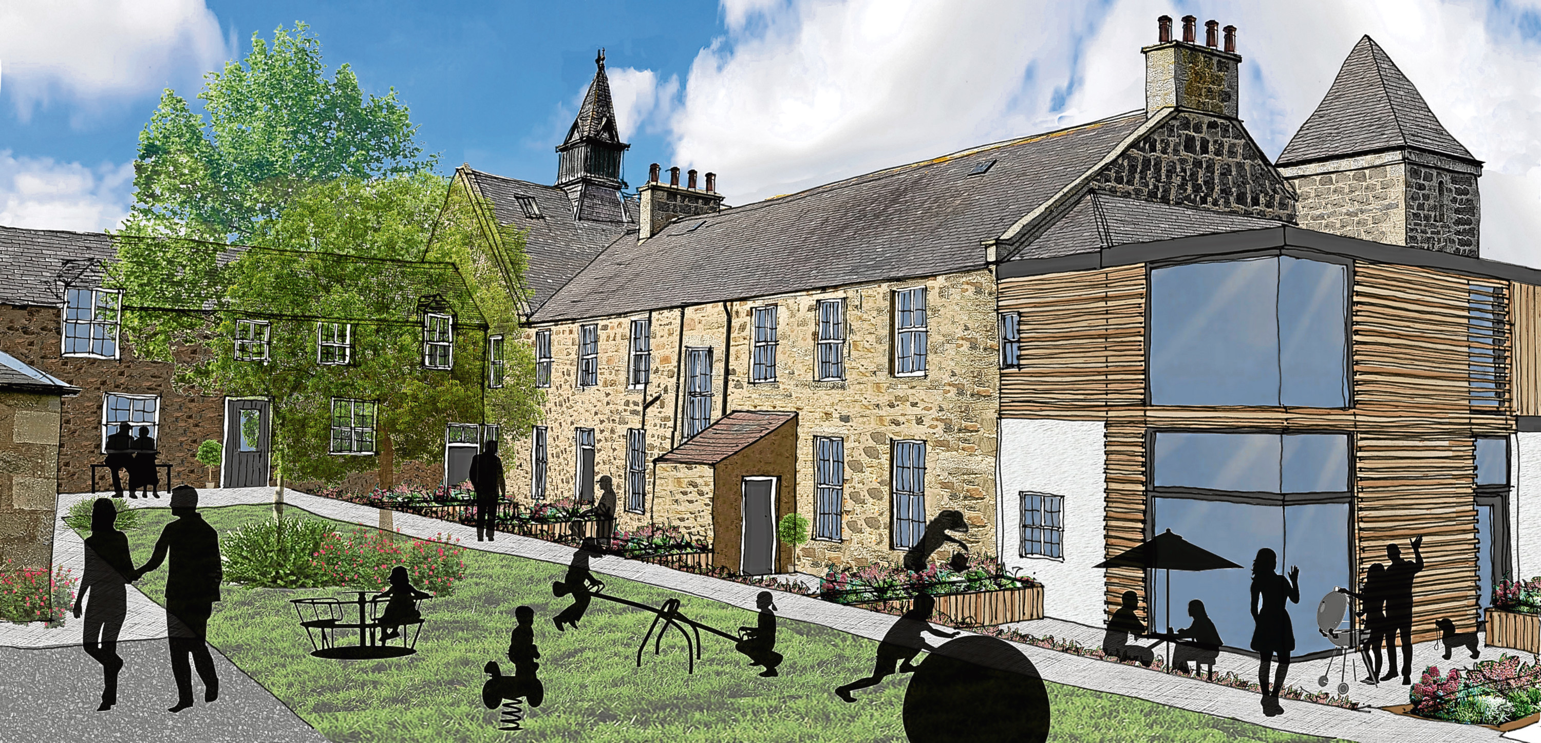 Pictures of how the development at Maud hospital could look if approved.