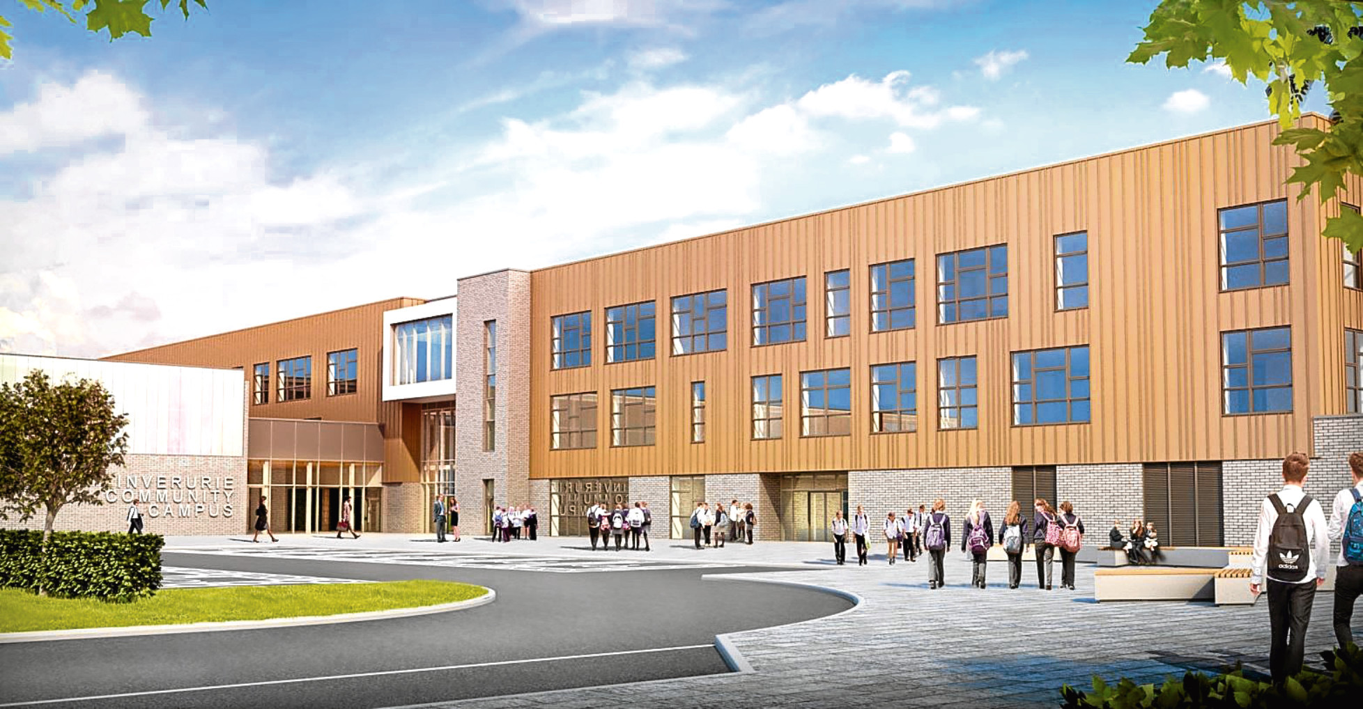 An artist impression of the planned community campus at Inverurie.