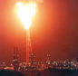 1996: The flame of flaring gas at the St Fergus terminal, which could be seen from over 50 miles away