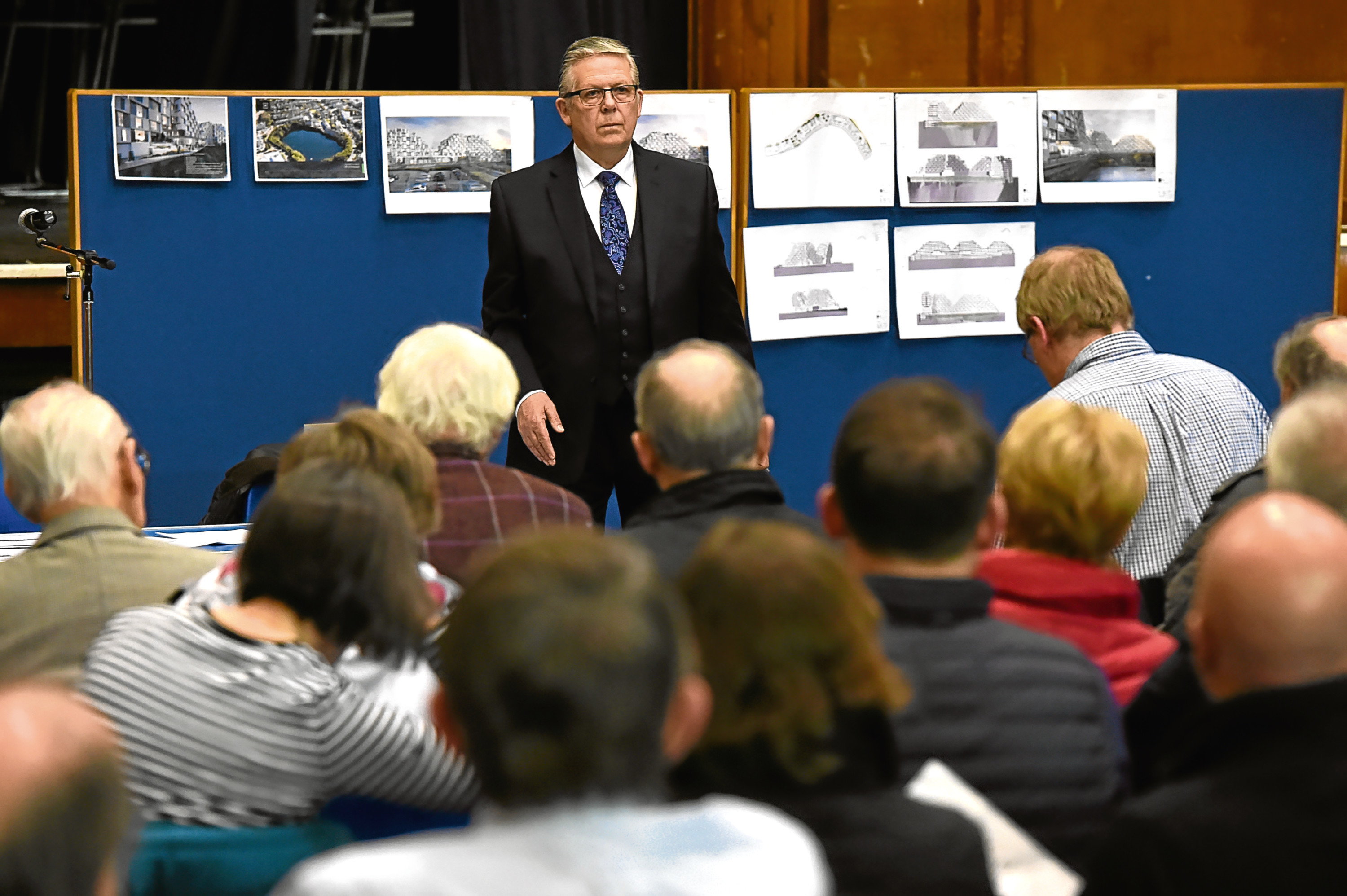 The meeting on the plans for Rubislaw Quarry.