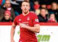 Adam Rooney in action for Aberdeen.