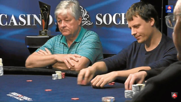 Andy Gray in action at the poker tournament in Russia