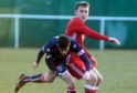 Seb Ross in action for the Aberdeen U20 side.