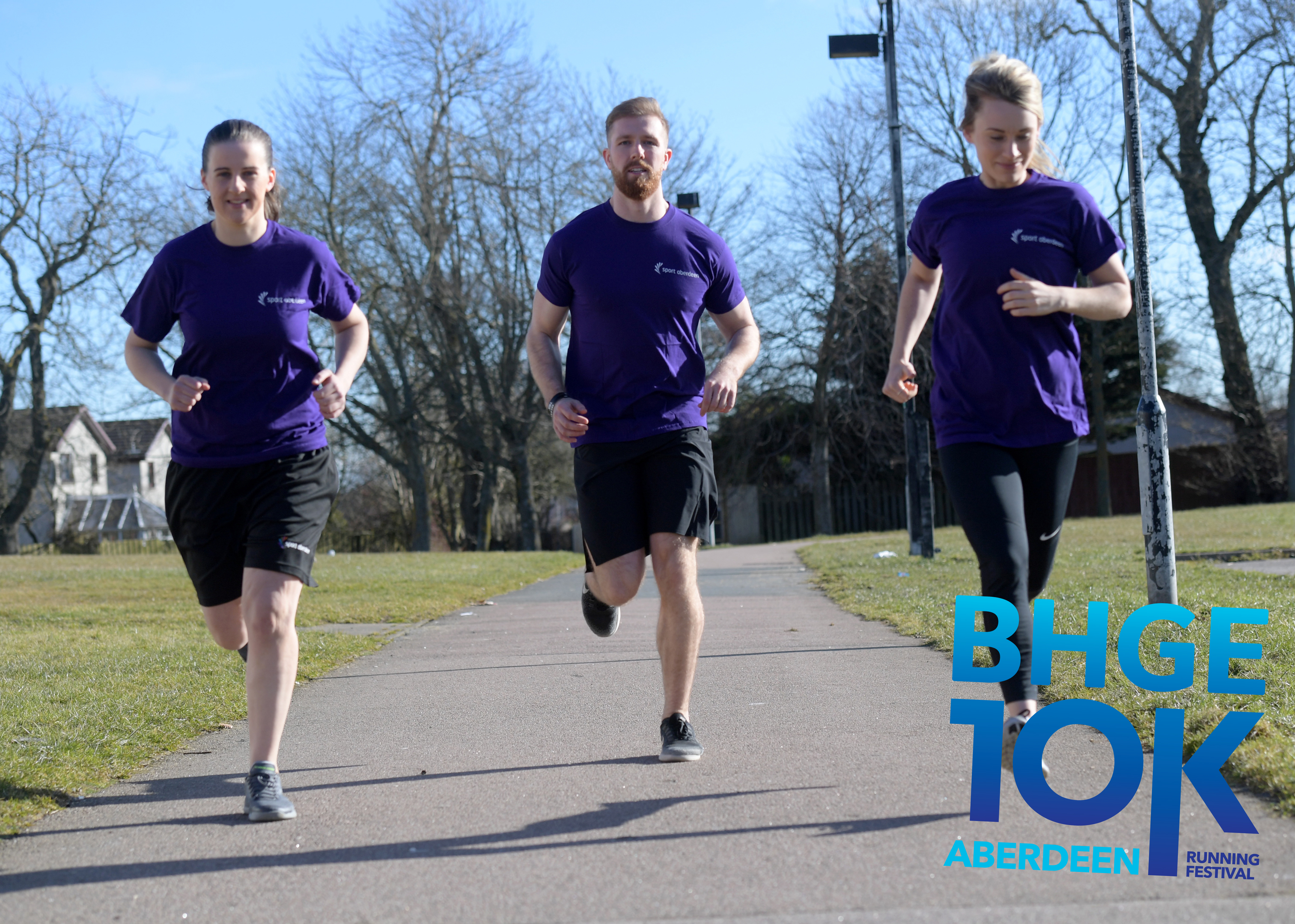 From left, Sport Aberdeen health and wellness team Briony Stewart, Michael Watson and Ashleigh Smith. Picture by Kath Flannery