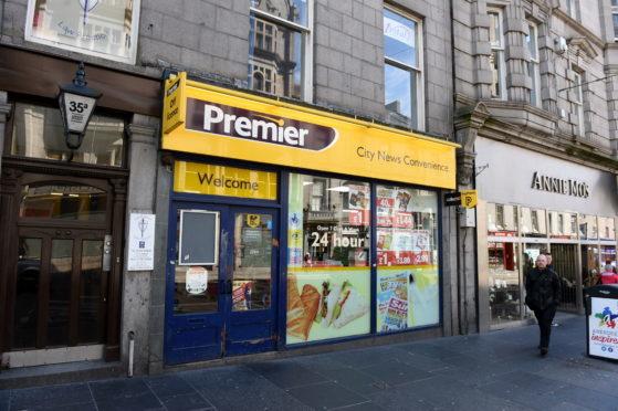 The Premier convenience store, on Union Street, Aberdeen.