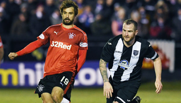 Ryan Christie in action for Fraserburgh against Rangers in the Scottish Cup.