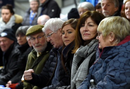 Eve Muirhead, centre, in the crowd. Picture by Darrell Benns