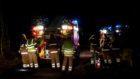 Firefighters  at Auchenhove Farm near Lumphanan
