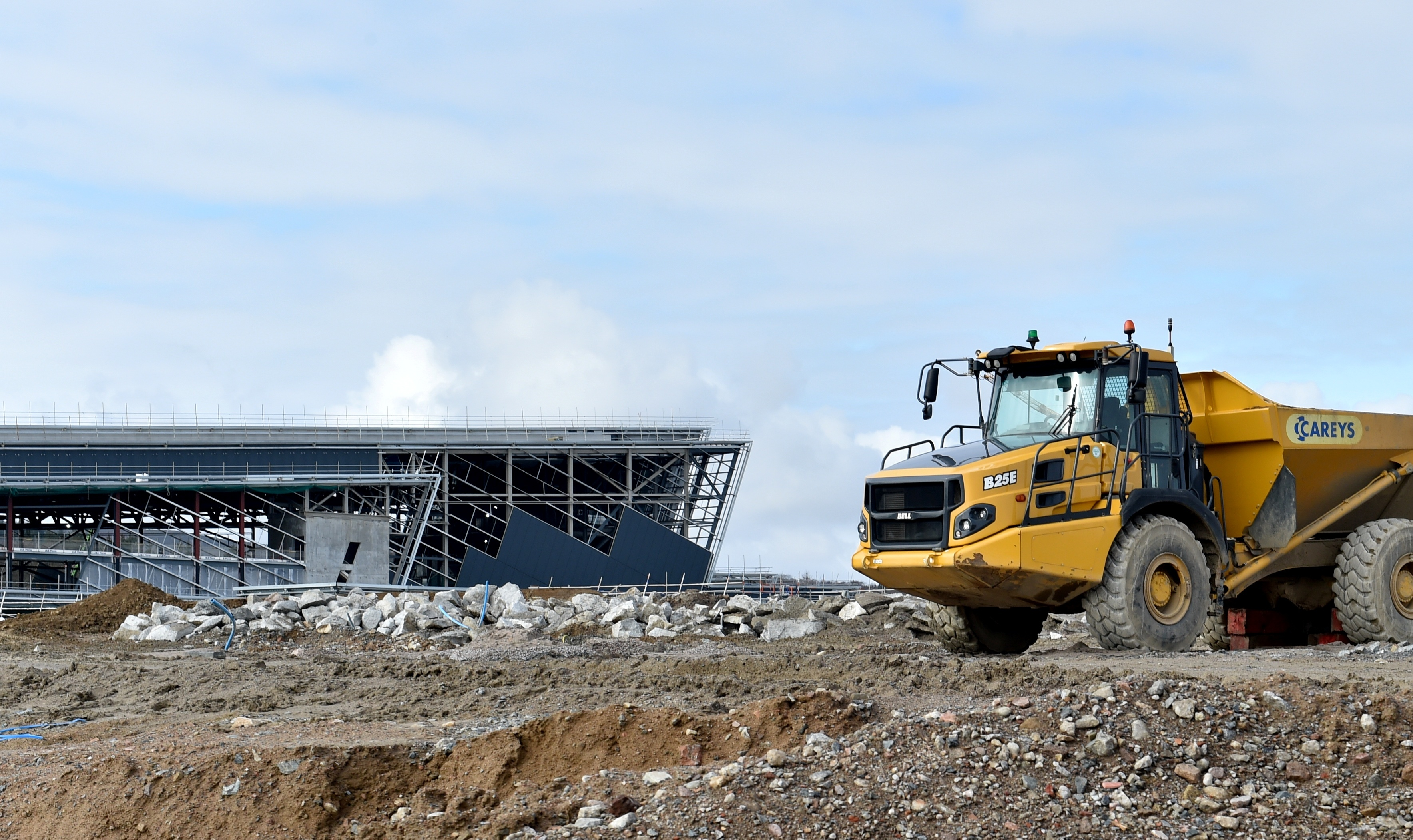 Work continues on the new AECC in Aberdeen as the building programme passes the halfway stage.