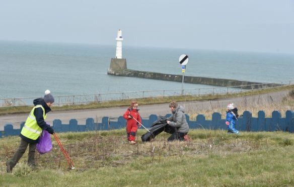 A previous clean-up at the Torry Battery