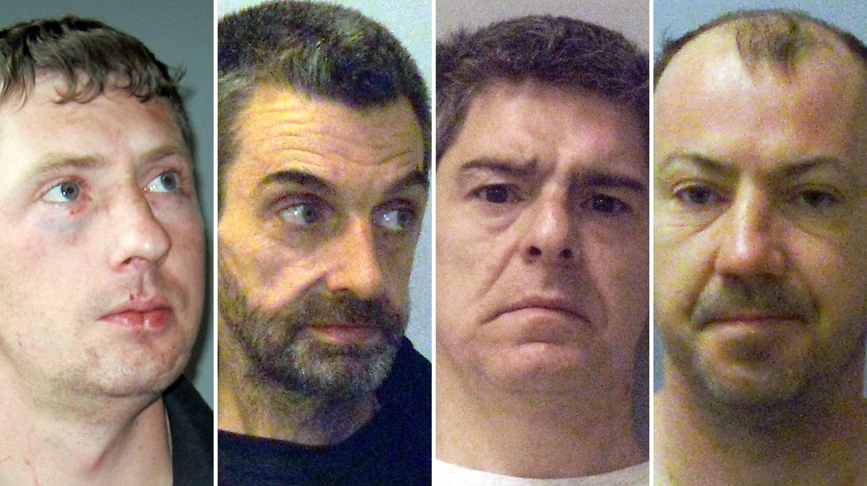 From left, Gary Martin, James Connor, John Henderson and Thomas Martin.