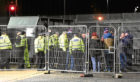 Rangers fans were left outside Bellslea Park after not being able to enter to watch the match between Fraserburgh and Rangers.