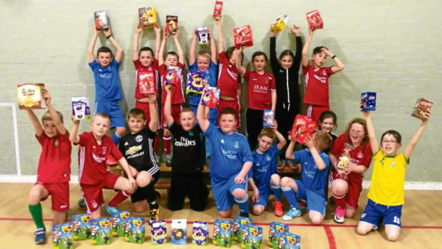 Youngsters from Elrick Football Club