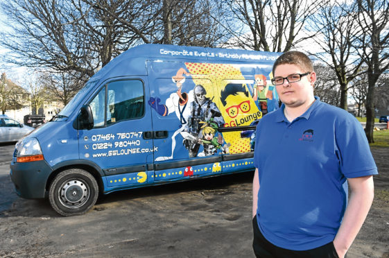 Dawid Guzik and his gaming van