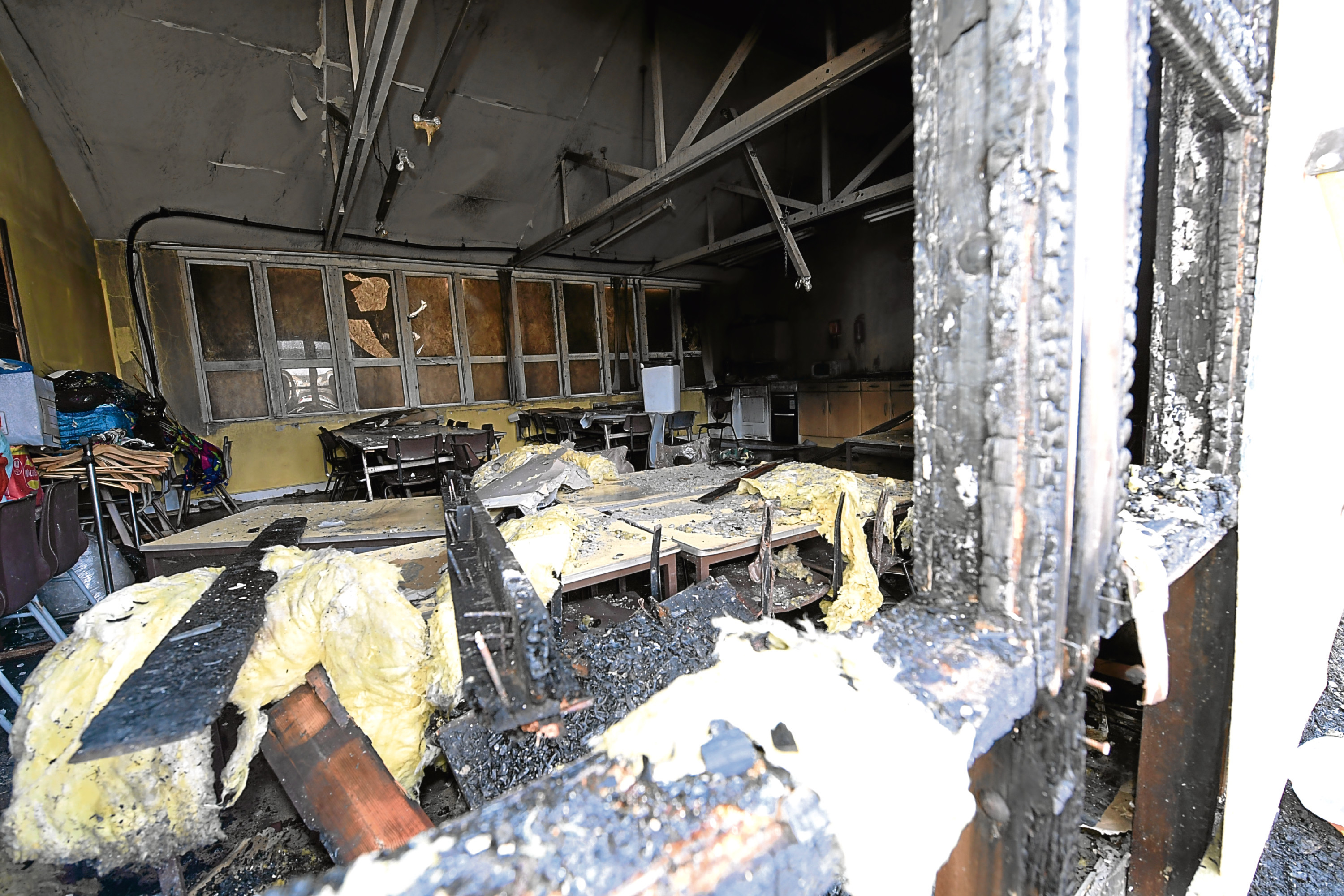 FIRE DEVASTATION OF THE ART DEPARTMENT AT ST ANDREWS PRIMARY SCHOOL IN FRASERBURGH. (8/4/2018)