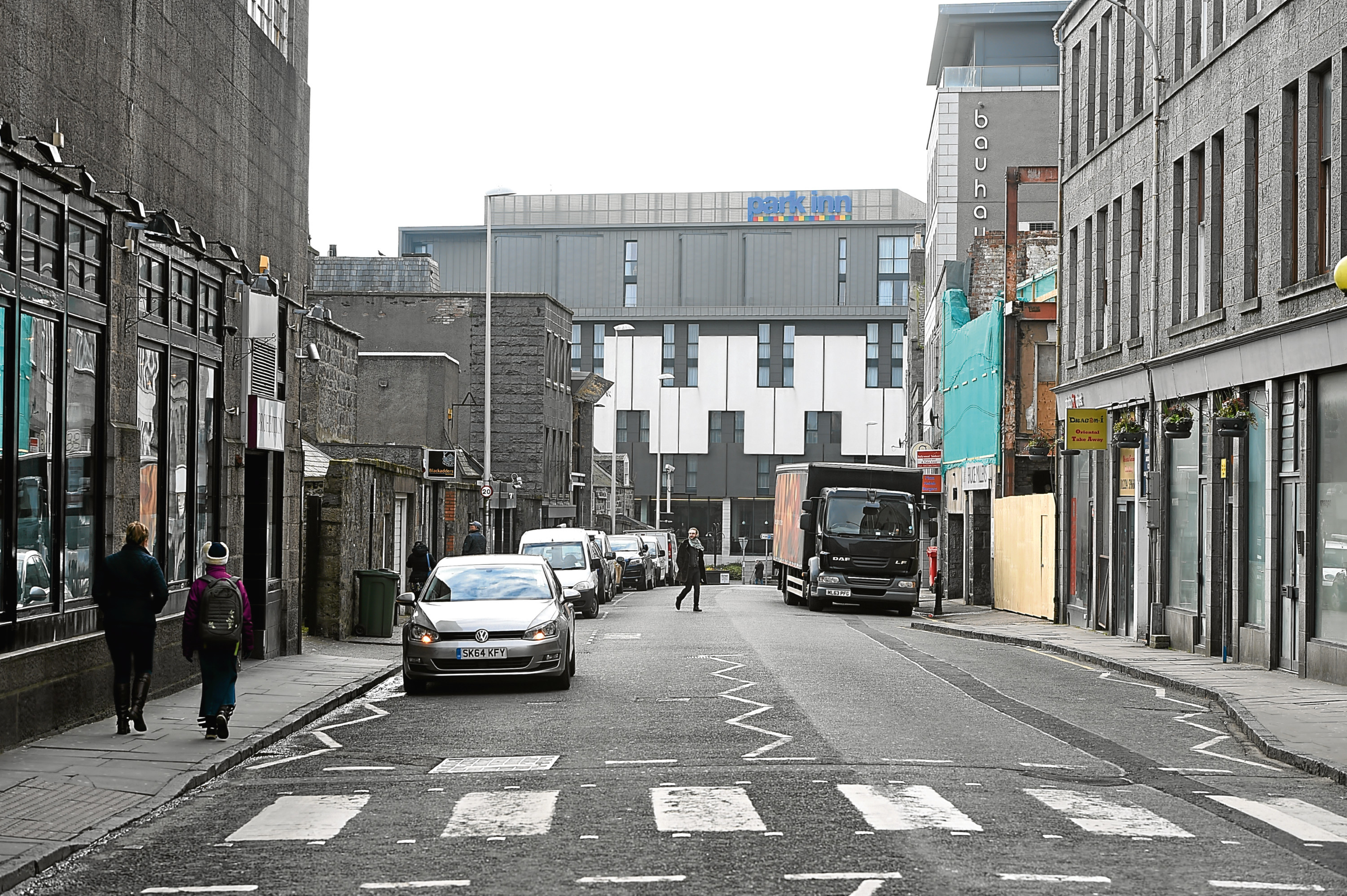 Vehicles could be banned from Langstane Place if plans are approved.