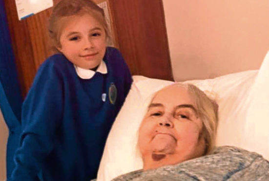 Ethel Stuart, 63, suffered from brain cancer and died at Fairview House in Danestone. She is pictured with her granddaughter, Niamh Bruce, 10.